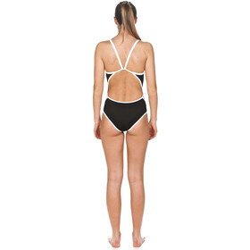 arena Team Stripe Superfly Back One Piece Swimsuit Damer, black-white